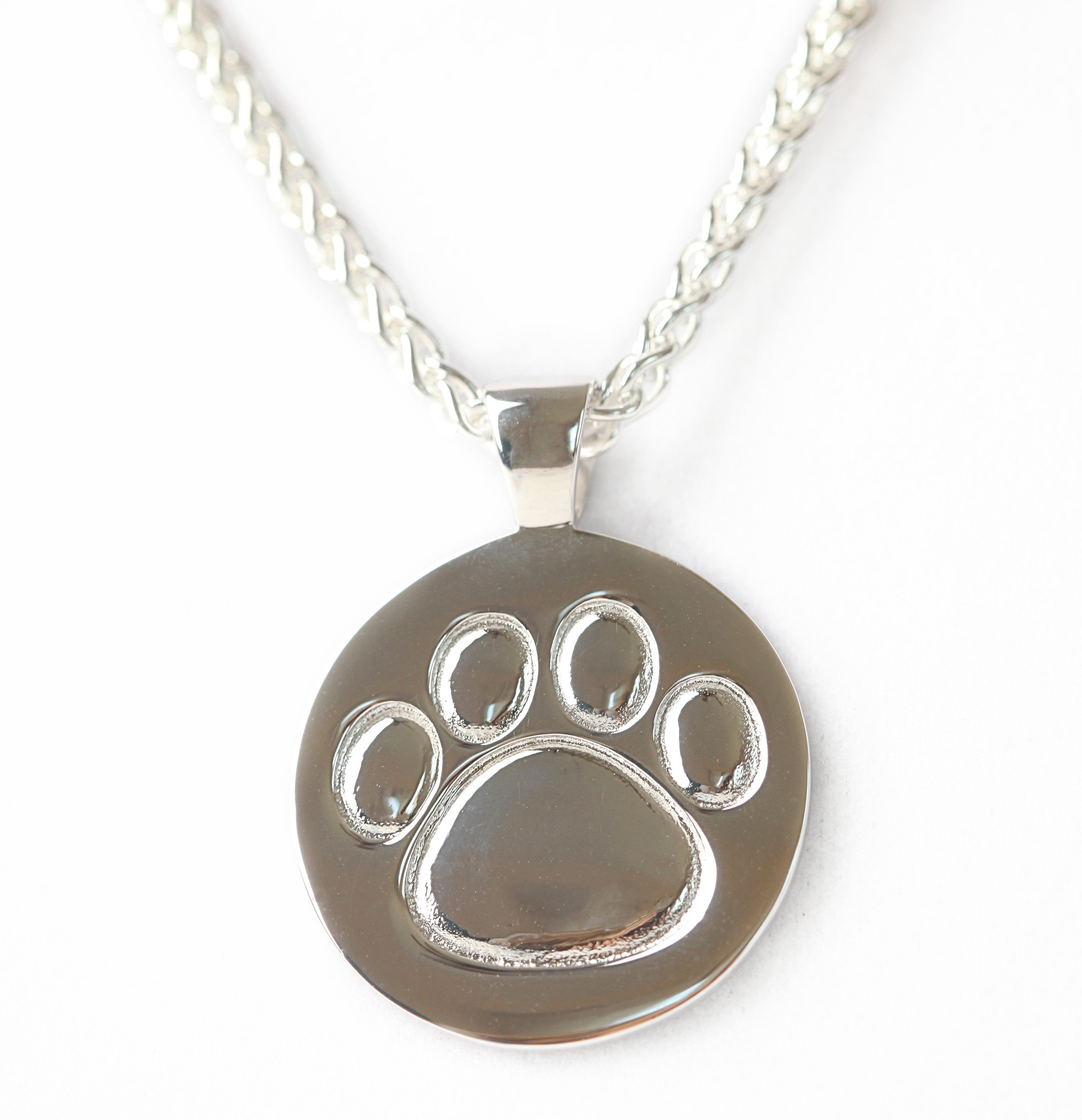 Sterling silver paw print pendant lisa welch designs sterling silver paw print pendant aloadofball Images