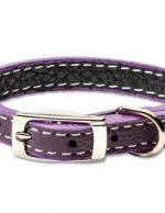 Leather with Stitching-Purple
